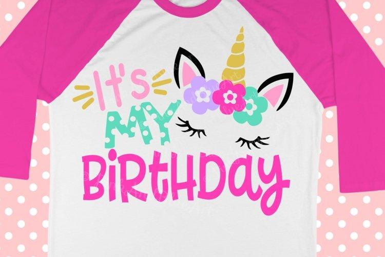 Unicorn svg - Birthday svg - Birthday girl svg - Birthday unicorn svg - 1st birthday svg - girls svg ,Printable - shirt svg dxf png eps pdf