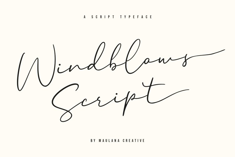 Windblows Script Typeface example image 1