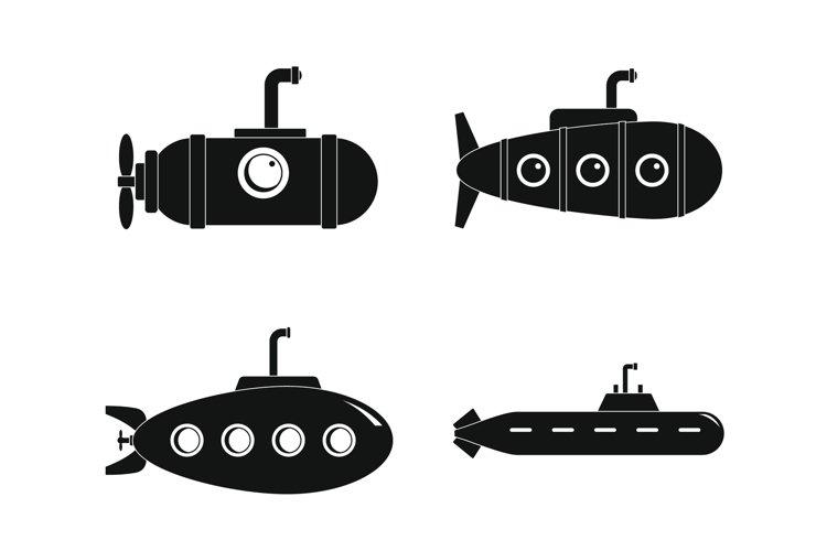 Periscope telescope icons set, simple style example image 1