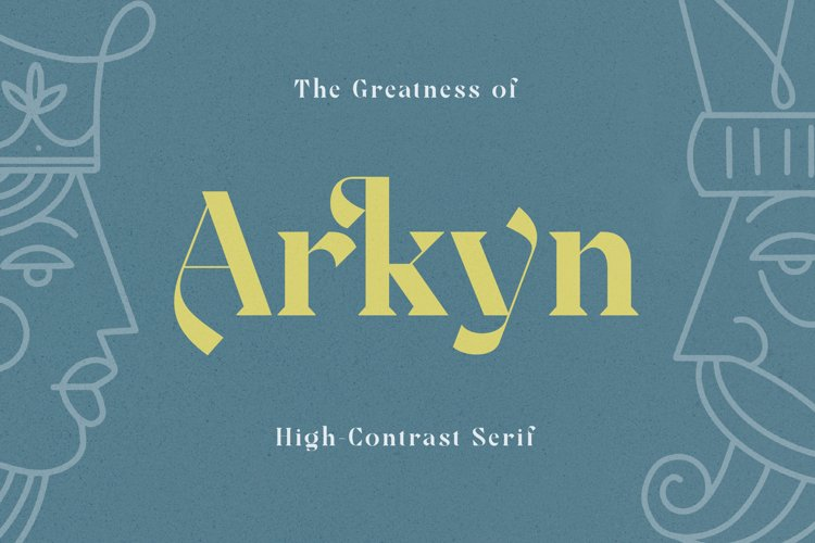 Arkyn - Modern Classic Serif Font example image 1