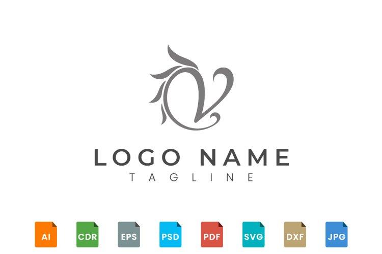 Elegant letter V logo design example image 1
