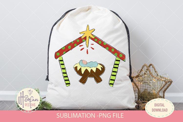 Nativity sublimation, Christmas manger, jesus christ