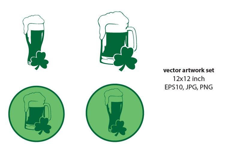 green beer- VECTOR ARTWORK SET example image 1