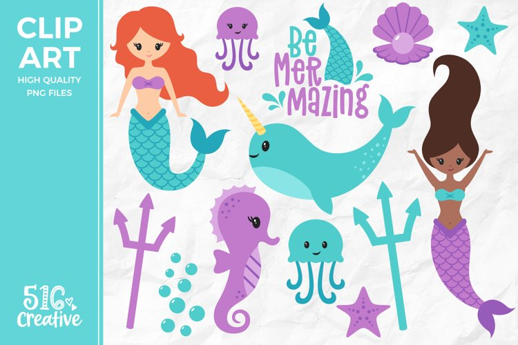 Be Mermazing Clipart Illustration PNG example image 1