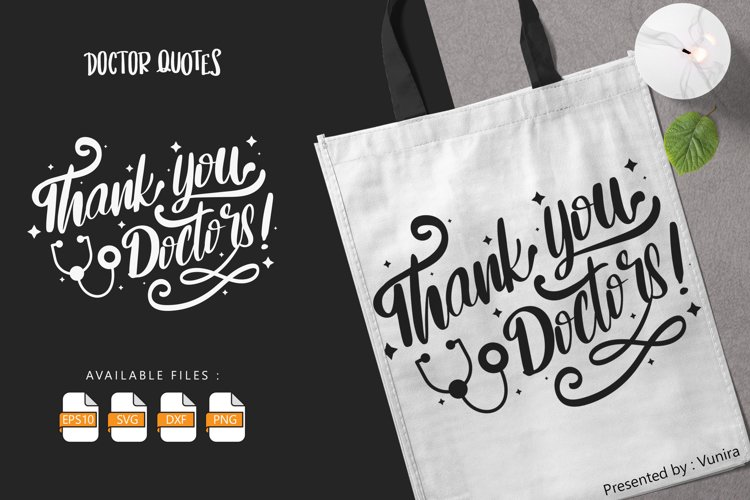 Thank You Doctor | Lettering Quotes example image 1
