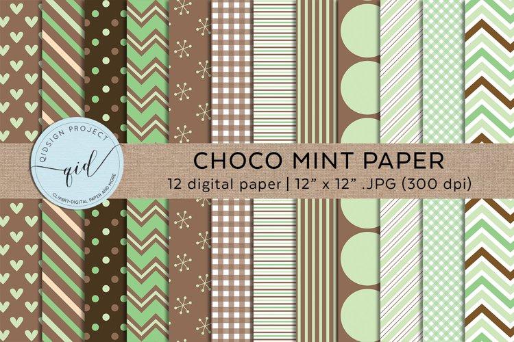 Choco Mint 12 Digital Paper JPG