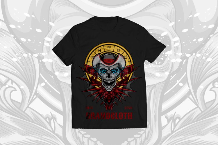 Unique vector illustration t-shirt design example image 1