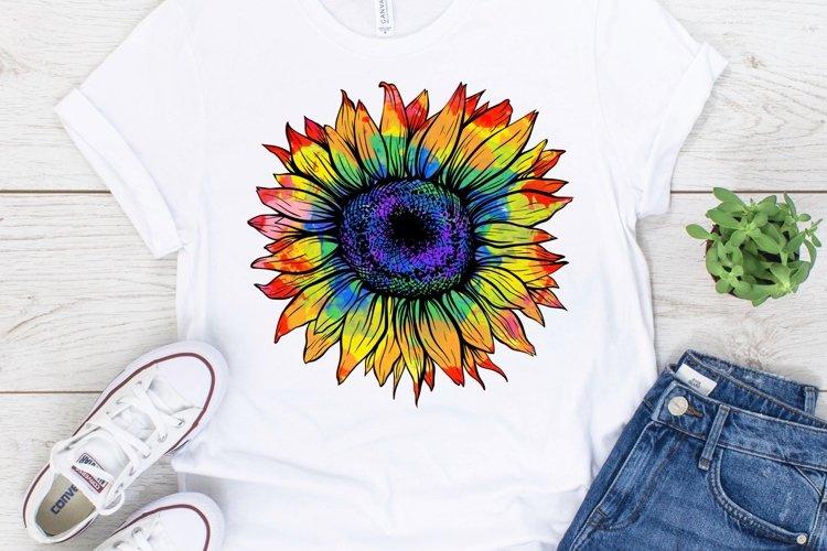 Tie Dye Sunflower PNG JPEG PDF