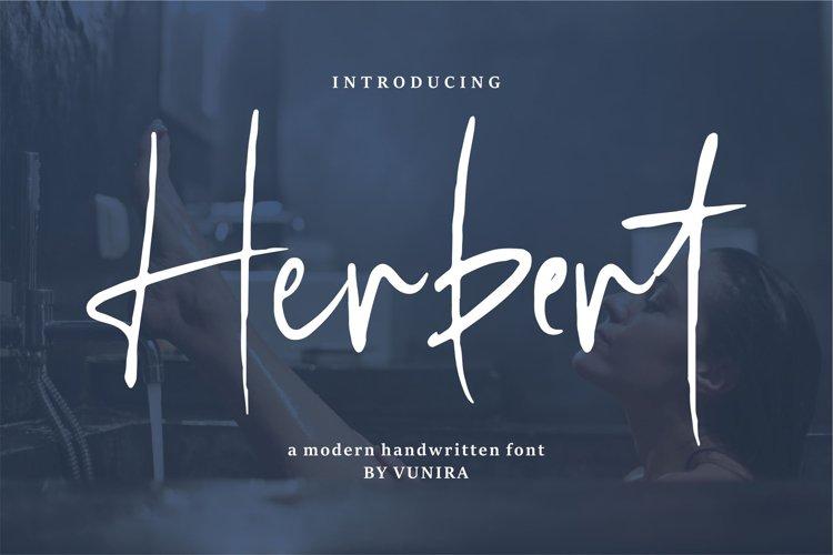 Herbert   A Modern Handwritten Font example image 1