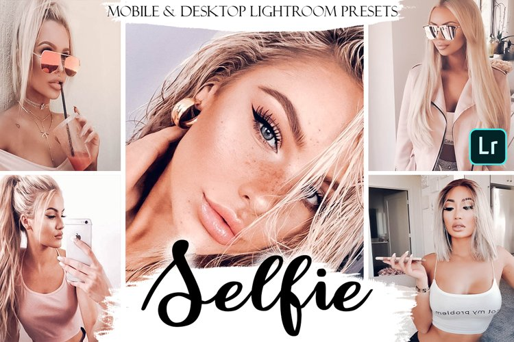 Selfie Mobile & Desktop Presets | Portrait Lightroom Presets example image 1