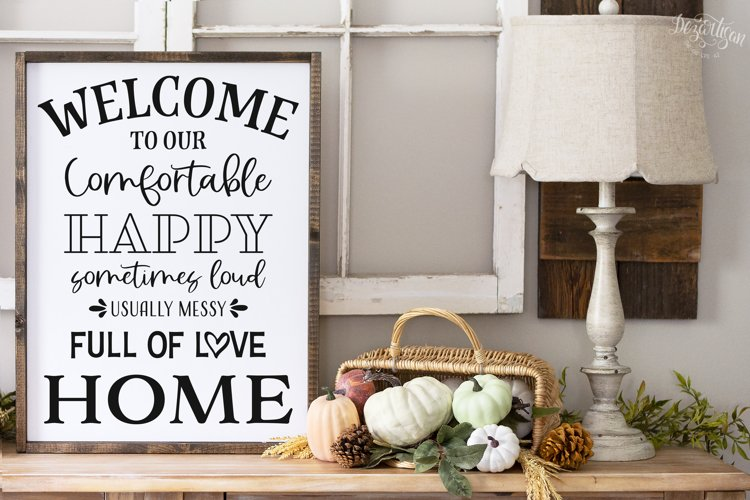 Welcome to Our Full Of Love Home SVG|DXF Cut File example image 1
