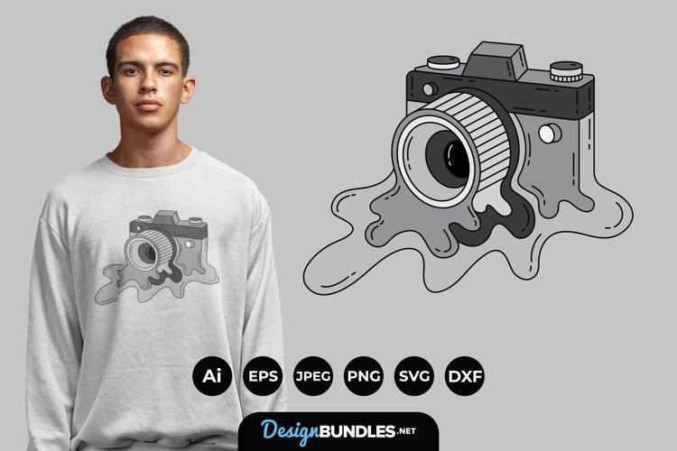 Melting Cameras for T-Shirt Design example image 1