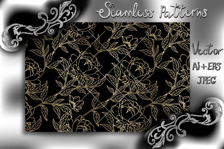 Seamless pattern with floral background. Floral vintage wall example image 1