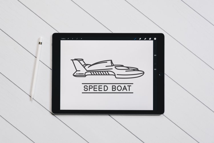 speedboat outline design example image 1