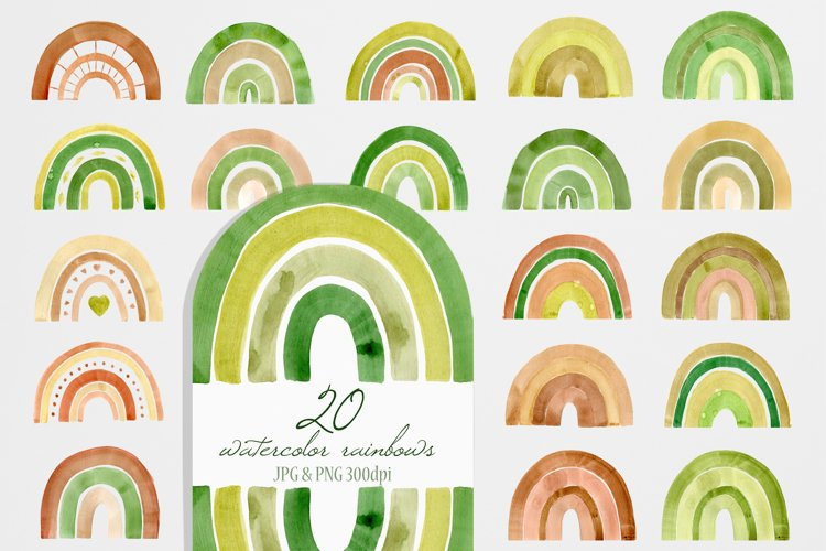Watercolor Home Plant Clipart Set example 8