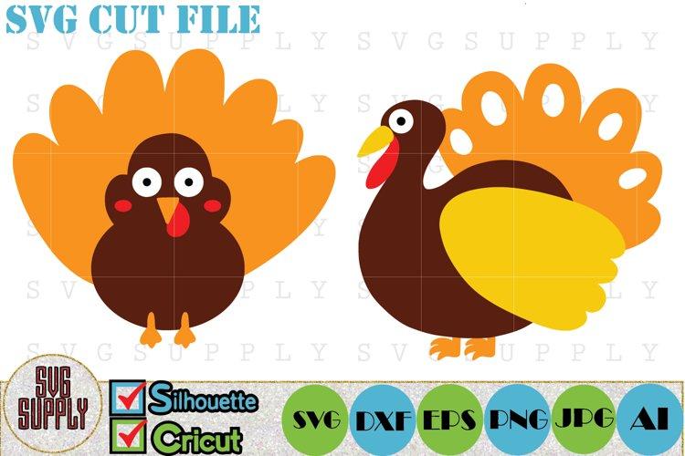 Thanksgiving Turkey SVG Cut File