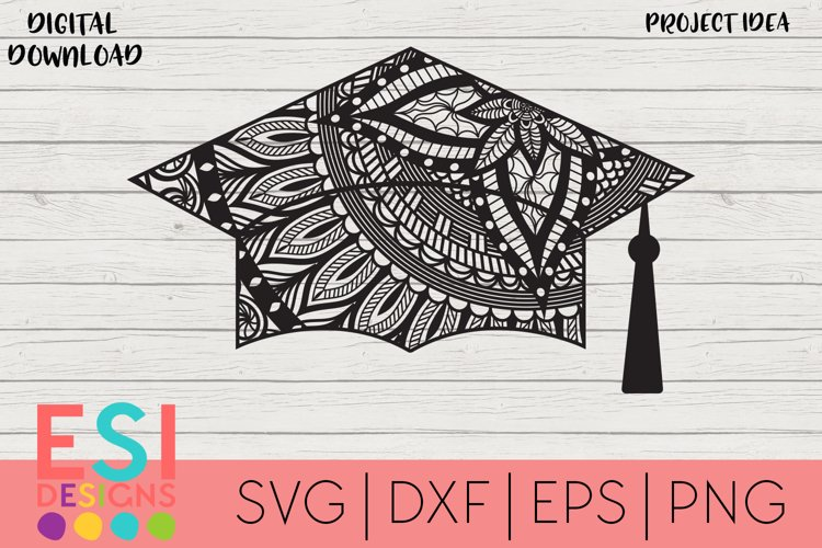 Zentangle SVG | Graduation Cap SVG | School