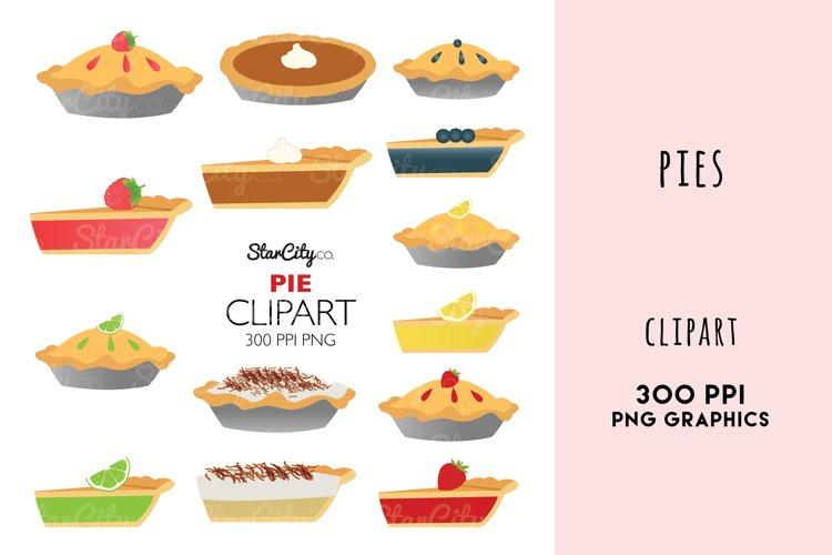 Pie Clipart Graphics, Pumpkin Pie, Lemon Meringne