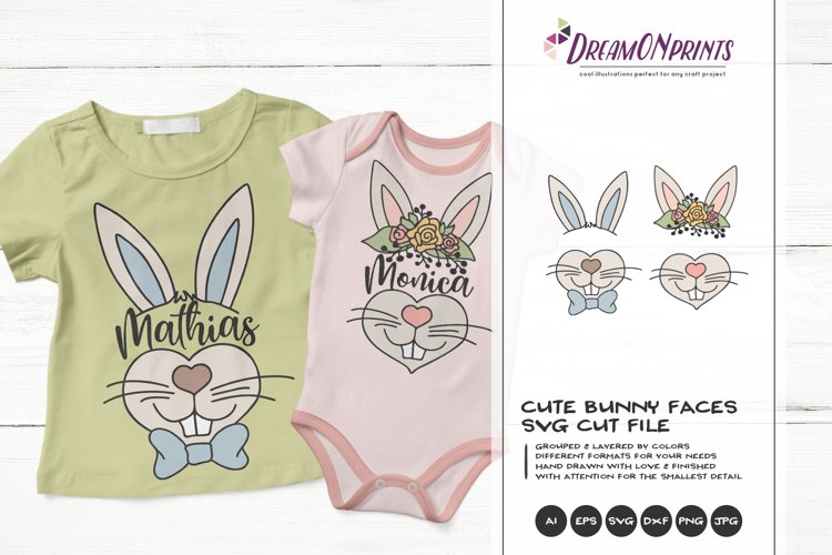 Easter Bunny SVG | Bunny Face SVG Cut File example image 1