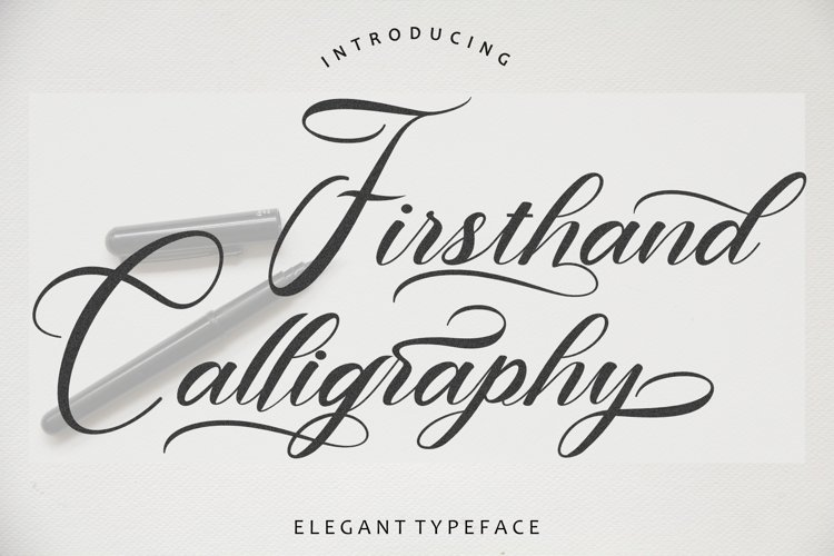 Firsthand Calligraphy example image 1