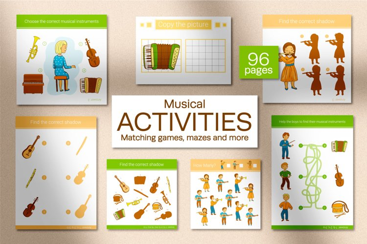Musical Instruments Activities for kids. example image 1