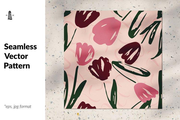 Tulip seamless pattern example image 1