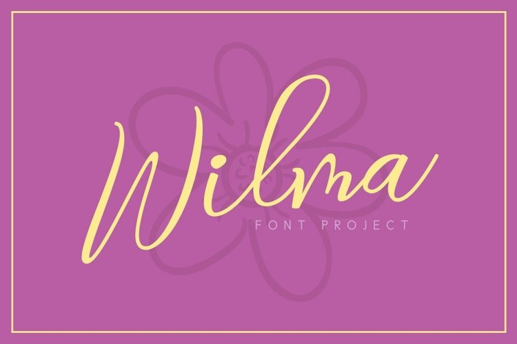 Web Font Wilma Font example image 1