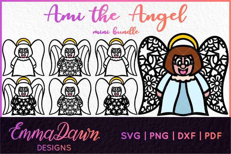 AMI THE ANGEL SVG MINI BUNDLE 7 DESIGNS example image 1