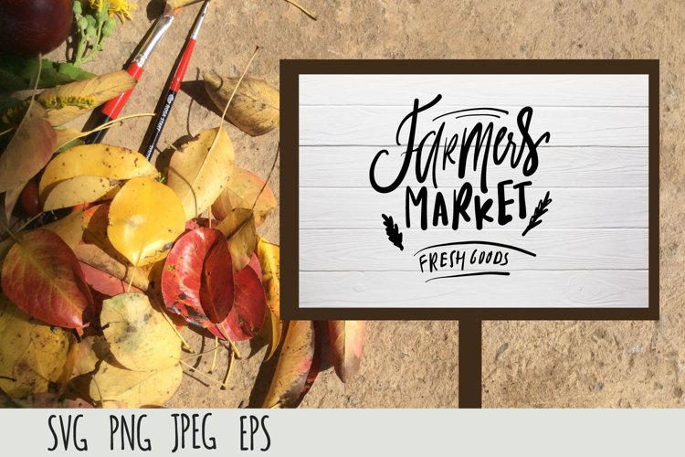 Farmers Market SVG cut file| Fresh goods example image 1