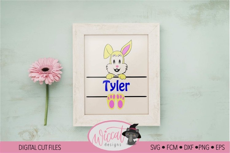 Easter Name banner, Easter bunny banner, example image 1
