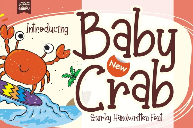 Baby Crab - Quirky Handwritten Font example image 1