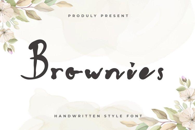 Brownies - Handwritten Display Font example image 1