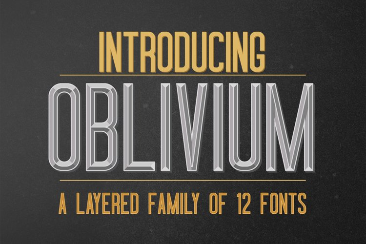 Oblivium Layered Font Family example image 1