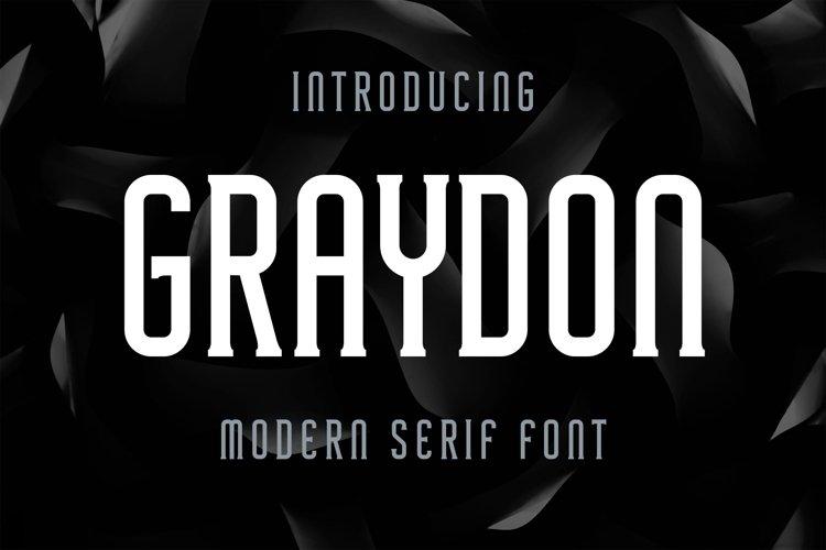 Graydon - Modern Serif Font example image 1