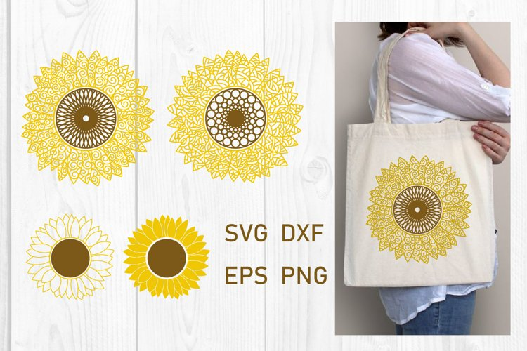 Sunflower SVG PNG EPS DXF Files