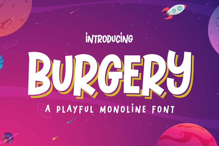 Burgery - A Playful Font example image 1