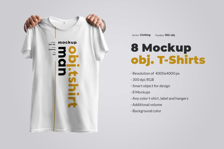 8 Mockups T-Shirts on the Hangers
