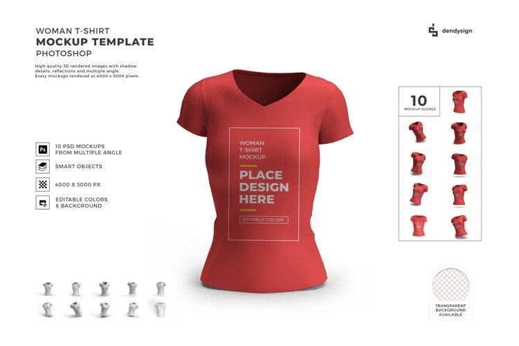 Woman Tshirt Mockup Template Bundle