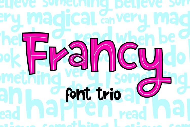 Francy Typeface - Creative Font Trio example image 1