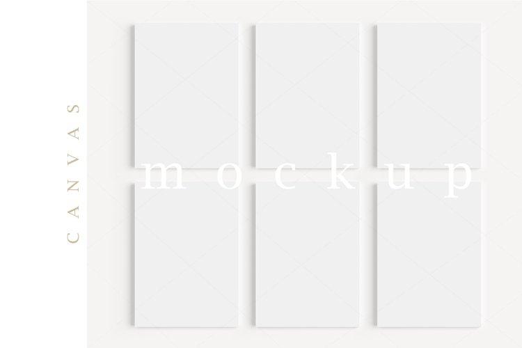 A4 Canvas Mockup Display Simple Modern Painting Mockup/M155 example image 1