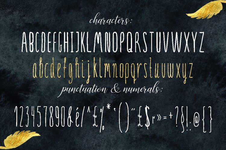 SERENA gold. Font