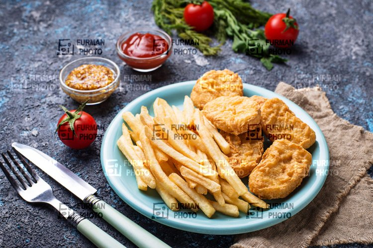 French fries and chicken nuggets example image 1