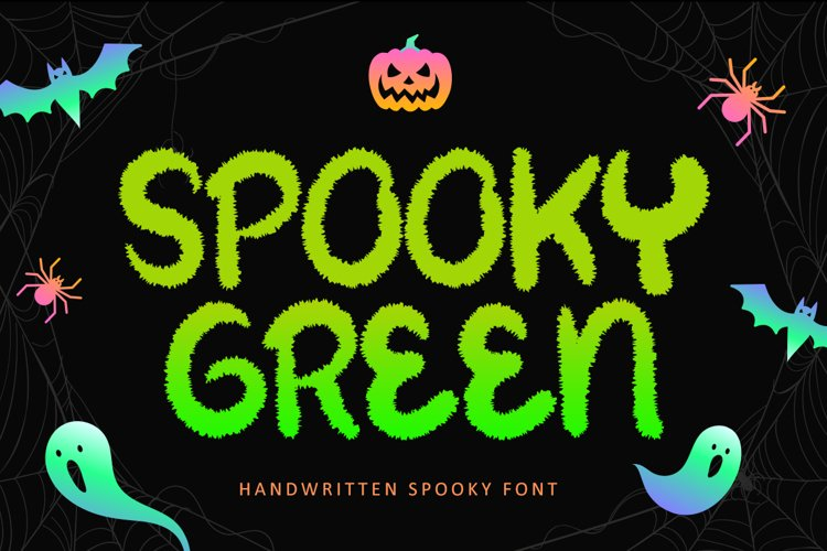 Spooky Green - Handwritten Halloween Font example image 1