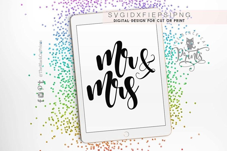 Mr and Mrs Wedding SVG PNG EPS DXF, Wedding svg