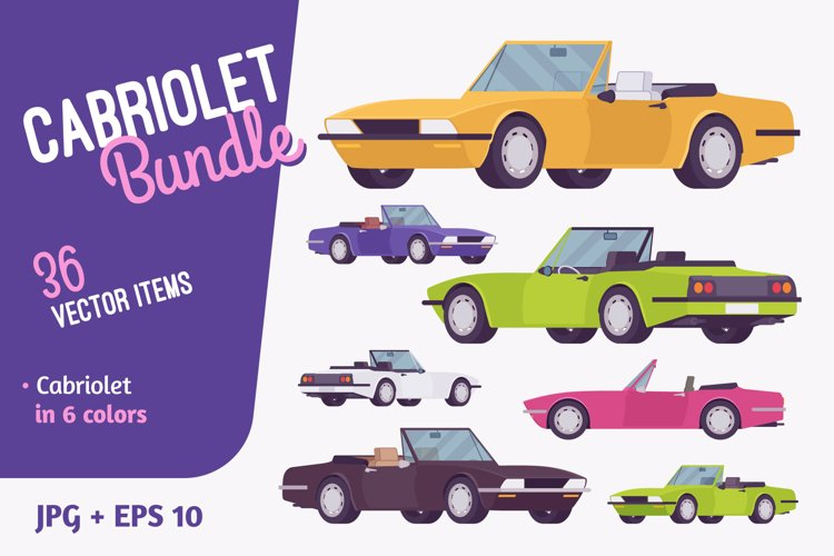 Cabriolet car vehicle bundle