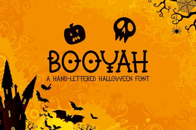 Web Font Booyah - A Hand-Lettered Halloween Font example image 1