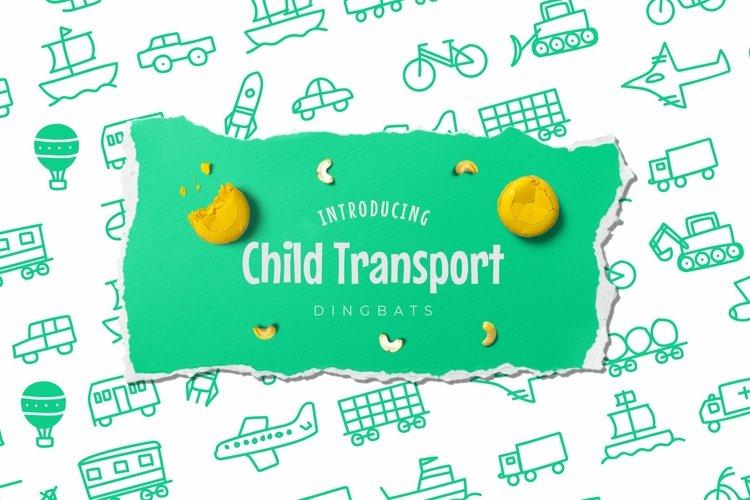 Web Font Child Transport Dingbats Font example image 1