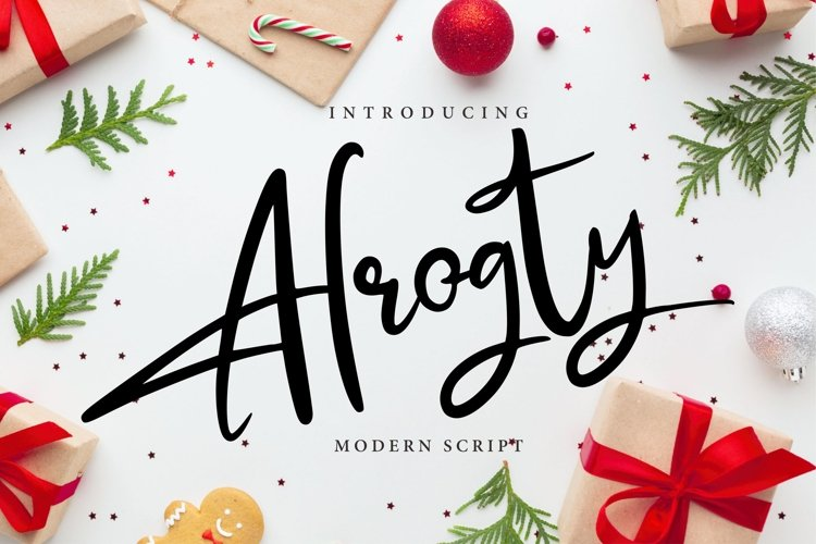 Alrogty | Modern Script Font example image 1