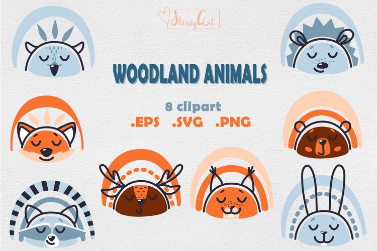 Woodland Baby Animal Faces - Clipart for Children Designs