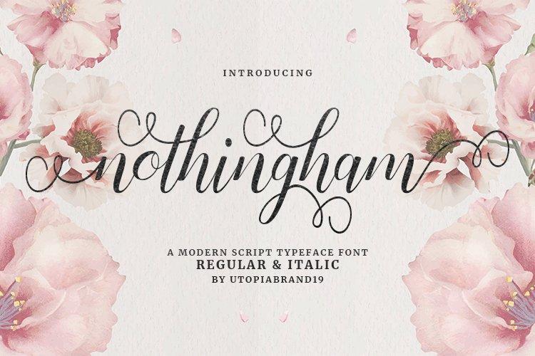 Nothingham Script | Regular & Italic example image 1